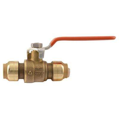 1/2 in. Brass Push-to-Connect Ball Valve (3-Pack)