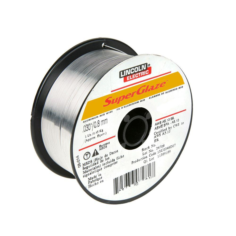 Lincoln Electric SuperGlaze 5356 1/32 in. MIG Wire-ED030312 - The ...