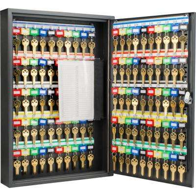 100-Position Steel Key Cabinet with Key Lock, Black