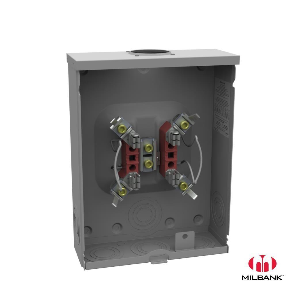 200 Amp 4-Terminal Ringless Overhead/Underground Horn-Bypass Meter Socket