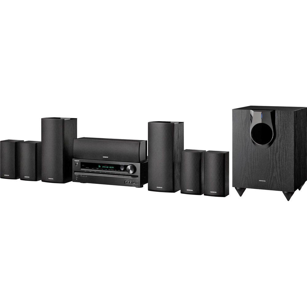 Onkyo 7.1-Channel Home Theater Receiver/Speaker Package with USB for iPod/iPhone-DISCONTINUED