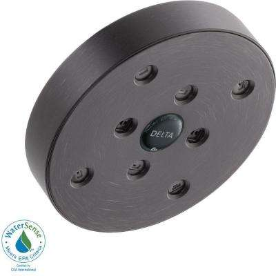 1-Spray 5-1/2 in. H2Okinetic Shower Head in Venetian Bronze
