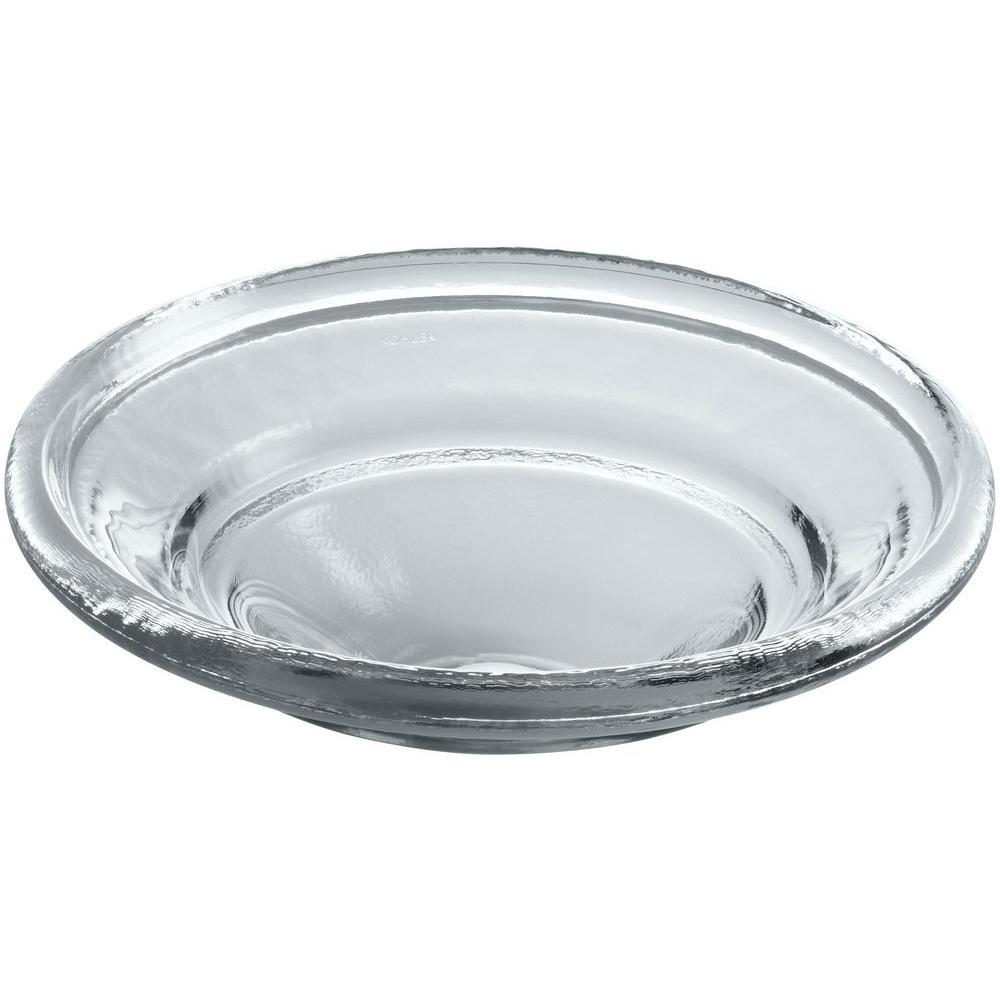 Spun Glass Vessel Sink in Ice