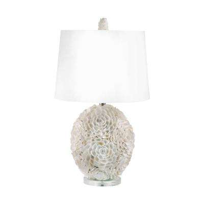 26 in. Hand Applied Natural Shells Table Lamp