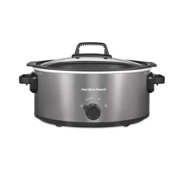 Stovetop Sear and Cook 6 qt. Gray Slow Cooker