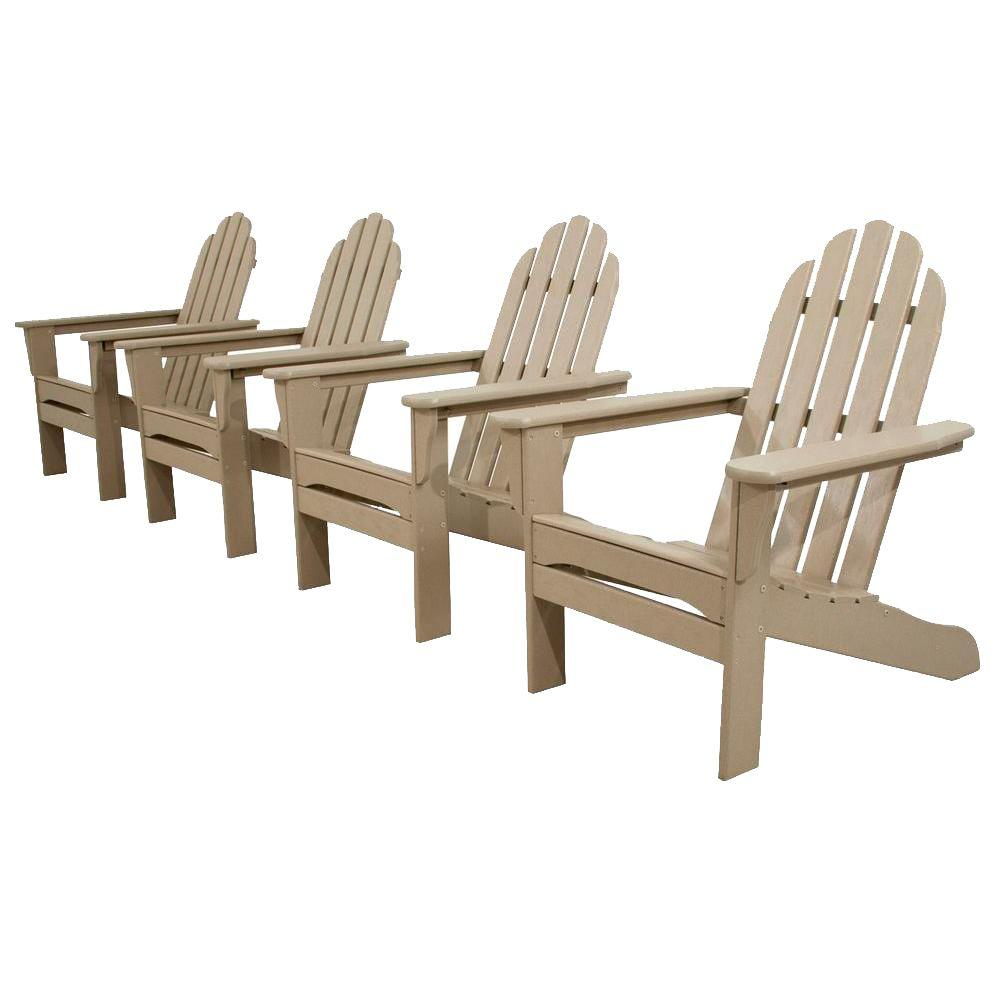 Classics Sand 4-Piece Patio Adirondack Set