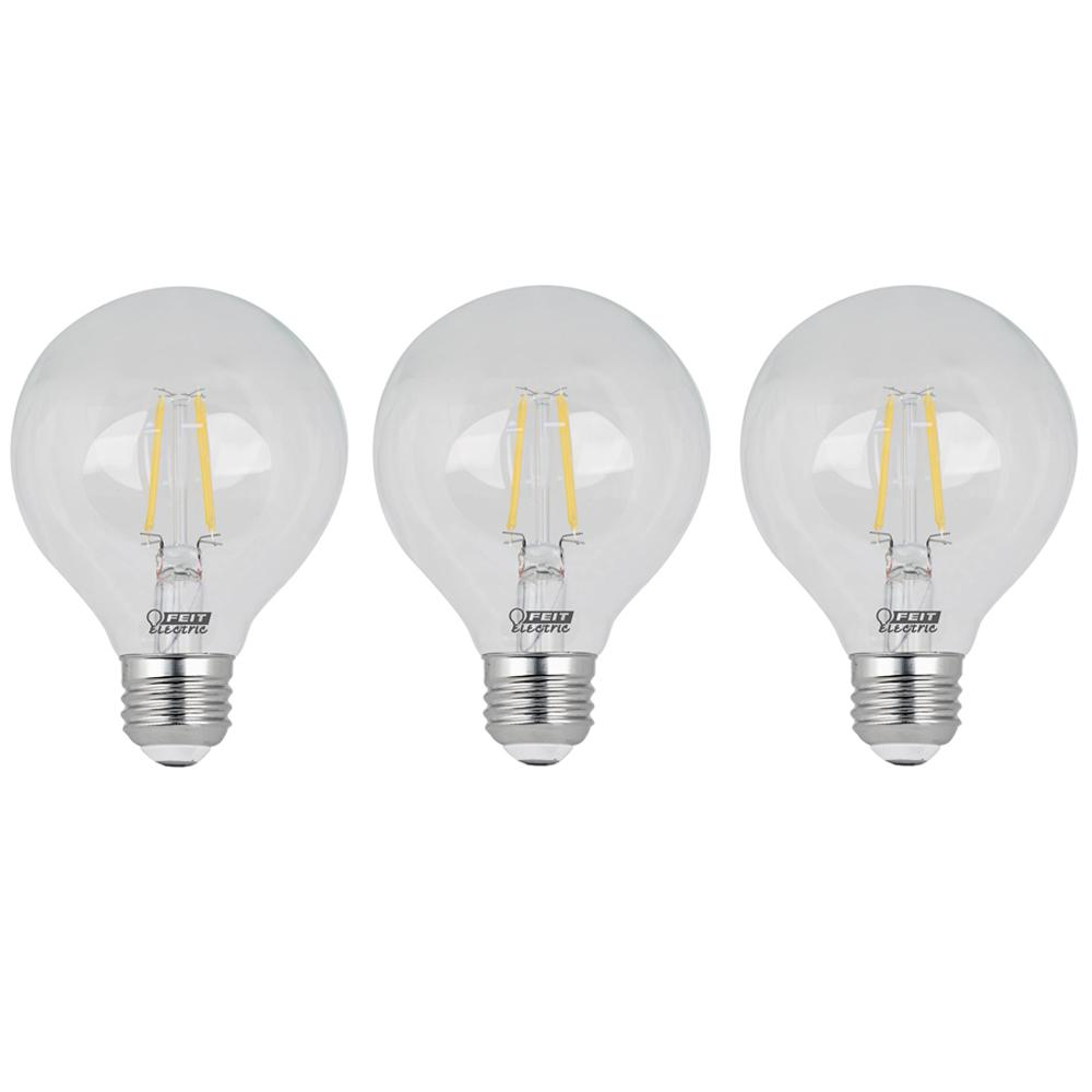 60-Watt Equivalent G25 Dimmable Filament LED ENERGY STAR 90+ CRI Clear
