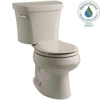 Wellworth 14 in. Rough-In 2-piece 1.28 GPF Single Flush Round Toilet in Sandbar