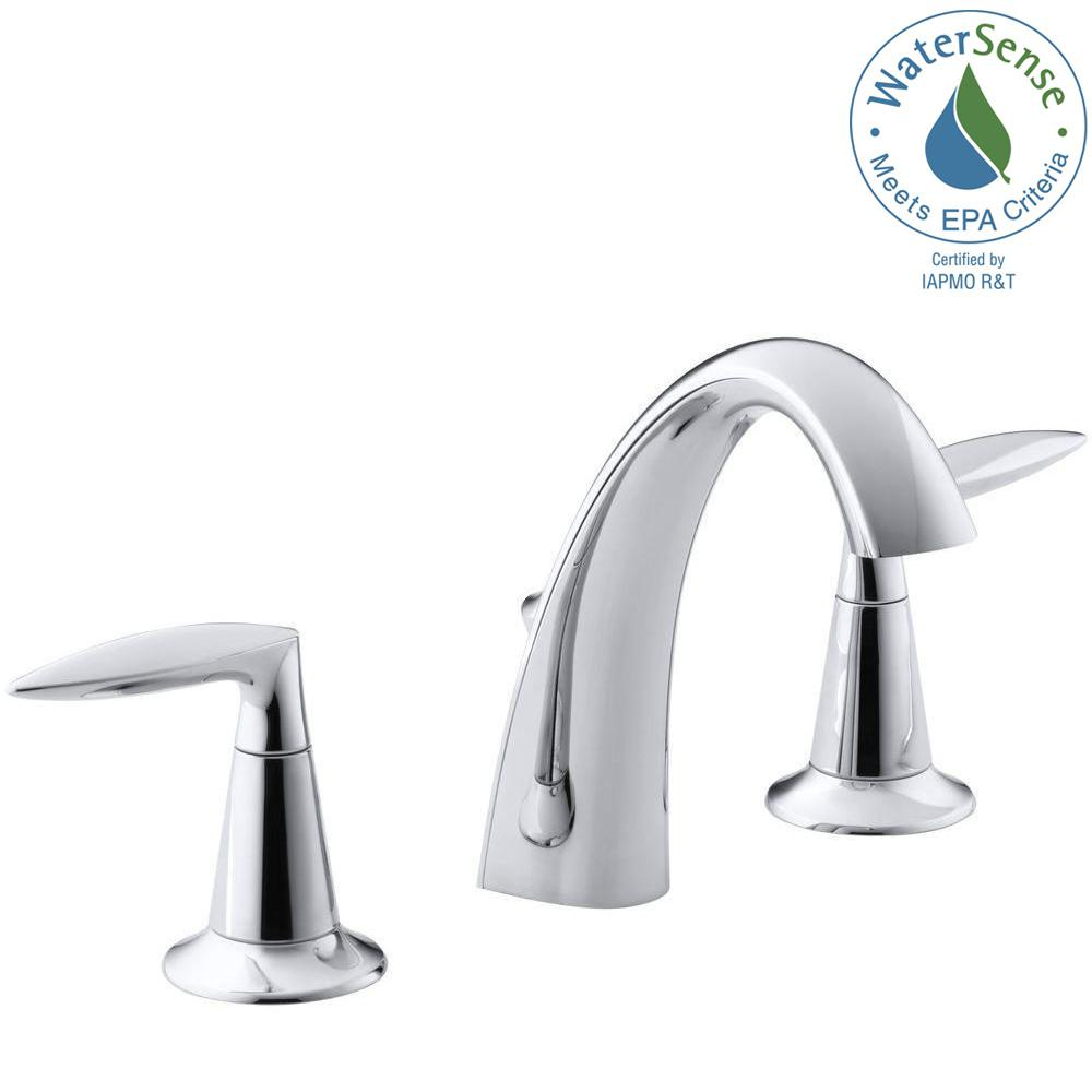 KOHLER Alteo 8 in. Widespread 2-Handle Mid-Arc Water-Saving ...