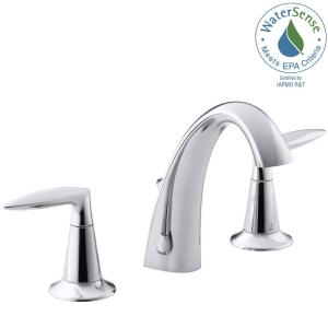 Kohler alteo 8 in widespread 2 handle mid arc water saving bathroom faucet in polished chrome k for Kohler alteo widespread bathroom faucet