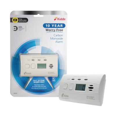 10-Year Worry Free Lithium Battery Carbon Monoxide Detector with Digital Display