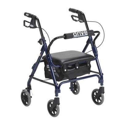 Junior Rollator with Padded Seat in Blue
