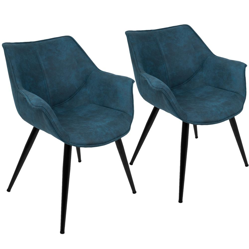 Bon Lumisource Wrangler Blue Accent Chair (Set Of 2)