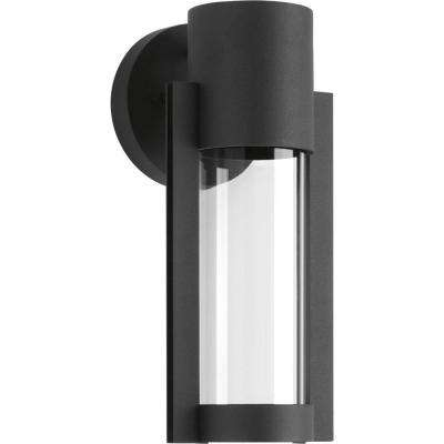 Z-1030 Collection 1-Light Black Outdoor Integrated LED Wall Lantern