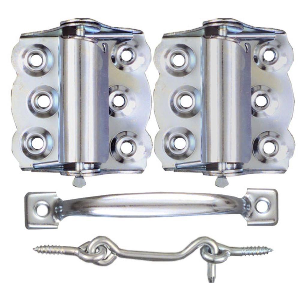 Silver Screen Door Hardware Set