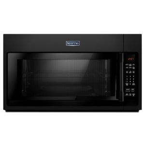 Maytag 2 0 Cu Ft Over The Range Microwave Hood In Black Mmv4206fb Home Depot
