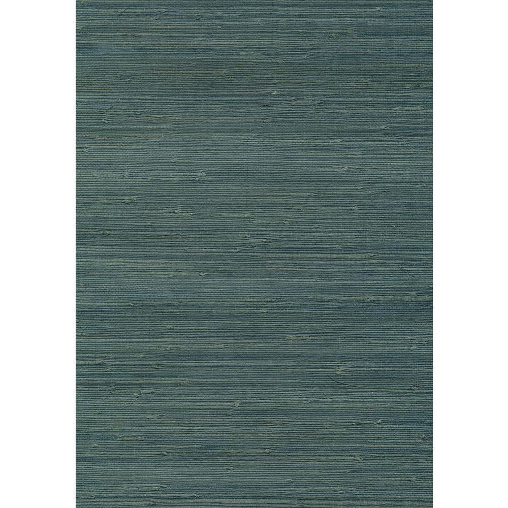 Kenneth James 72 sq. ft. Jurou Blue Grasscloth Wallpaper ...