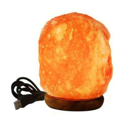 3 in. LED USB Himalayan Ionic Crystal Salt Mini Lamp
