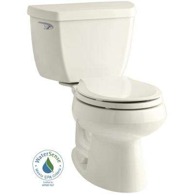 Wellworth Classic 2-Piece Single Flush 1.28 GPF Round Front Toilet in Biscuit with Cachet Q3 Toilet Seat in Biscuit