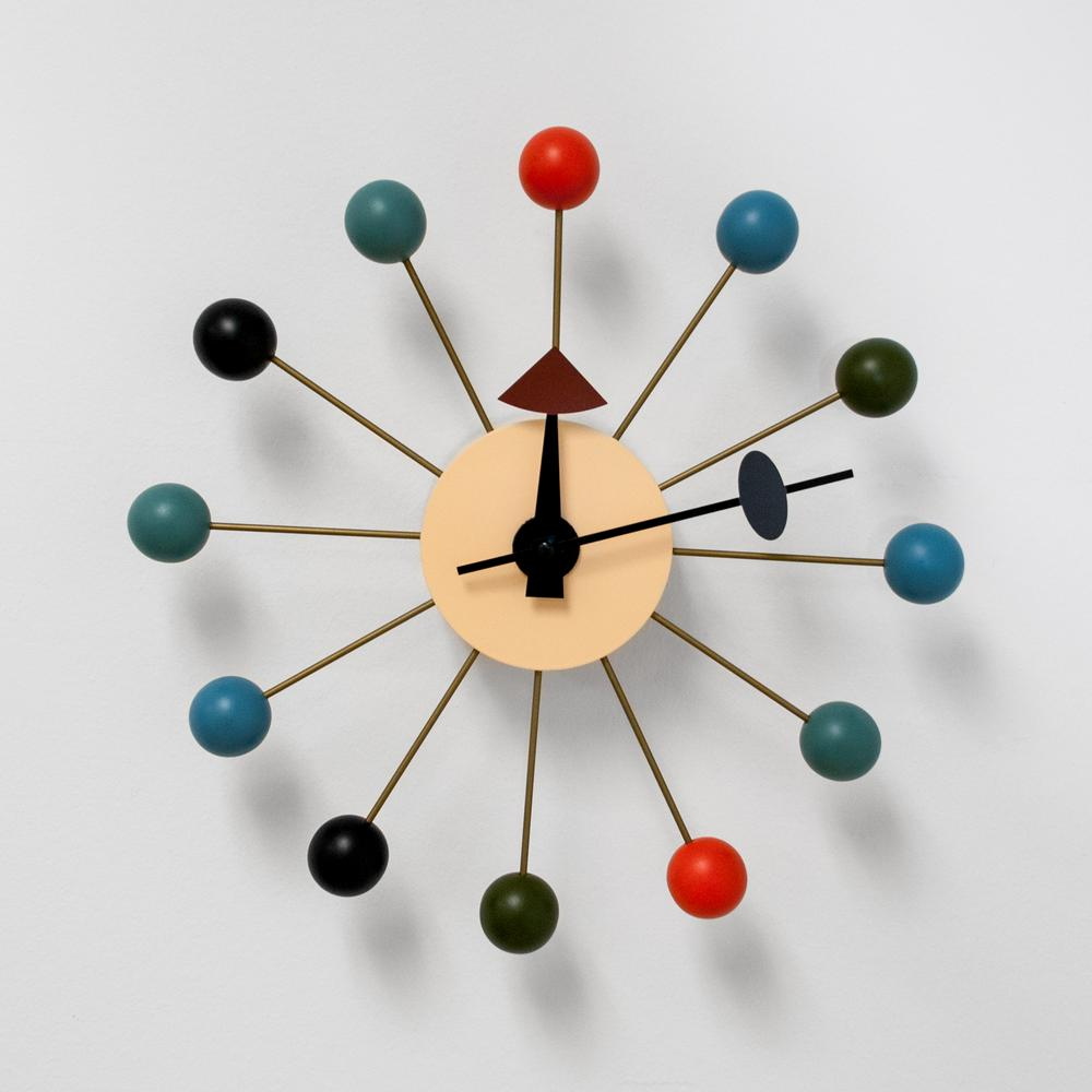 Mod made bubble multi color mid century modern wall clock