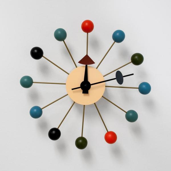 Bubble Multi-Color Mid Century Modern Wall Clock
