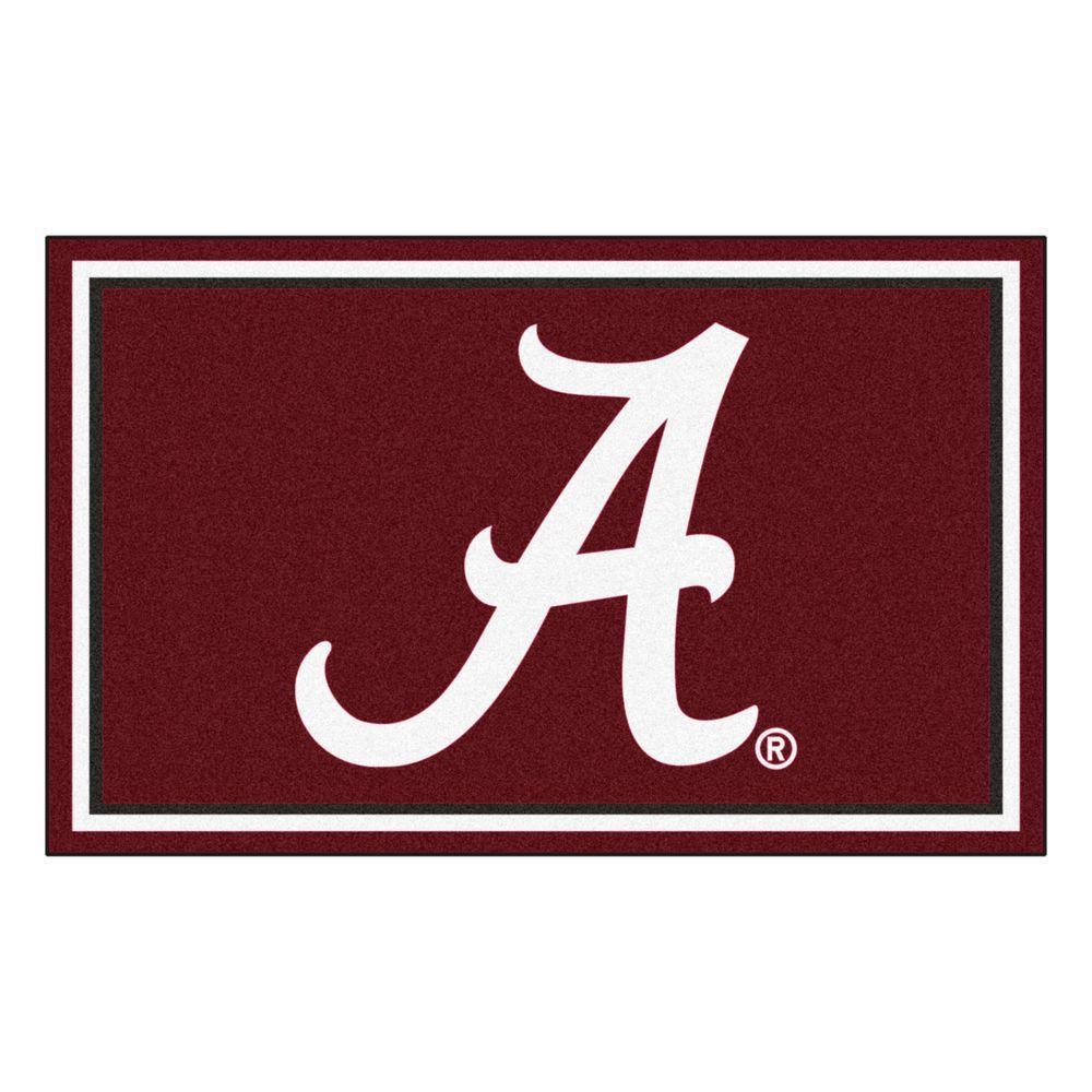 NCAA University of Alabama Red 4 ft. x 6 ft. Indoor Area Rug