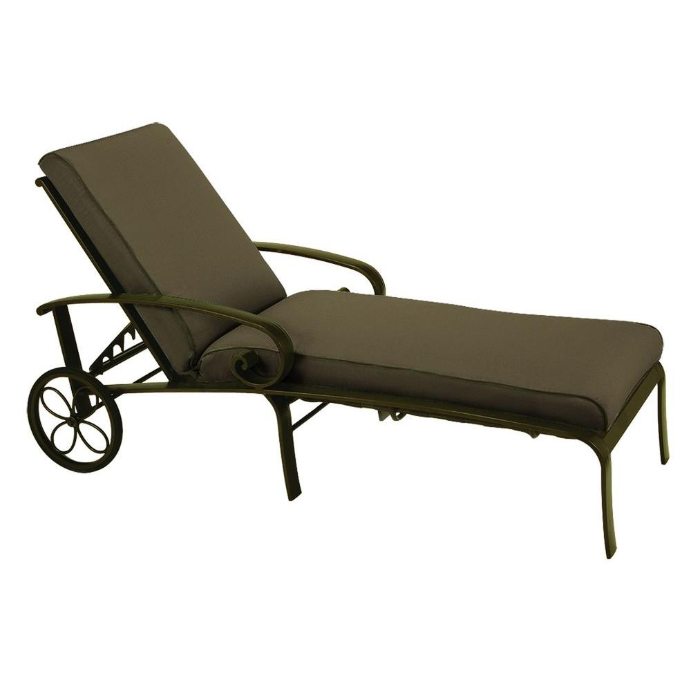 Tradewinds Valle Vista Canvas Cocoa and Olympic Gold Chaise-DISCONTINUED