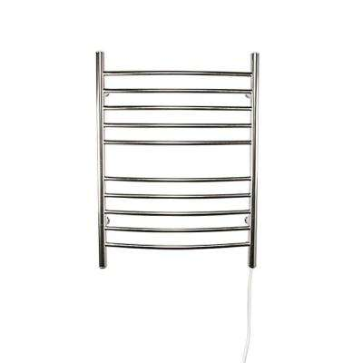 Radiant Curved Plug-In 24 in. W x 32 in. H 10-Bar Electric Towel Warmer in Brushed Stainless Steel