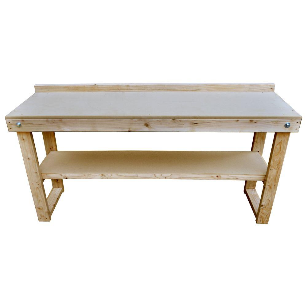 Signature development 72 in fold out wood workbench wkbnch72x22 the home depot Home depot benches