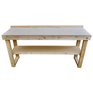 72 in. Fold-Out Wood Workbench