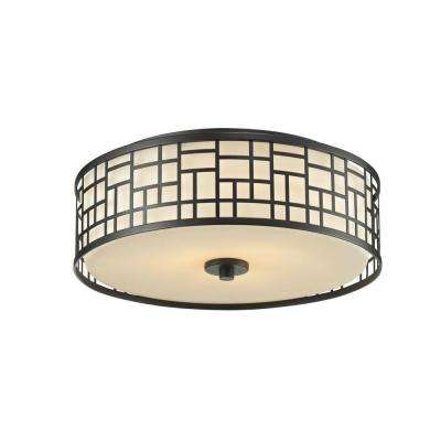 Velia 3-Light Bronze Flush Mount