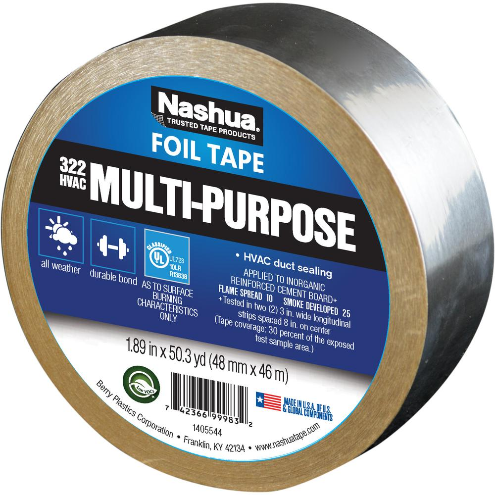 Nashua Tape 1.89 in. x 50 yd. 322 Multi-Purpose HVAC Foil Tape