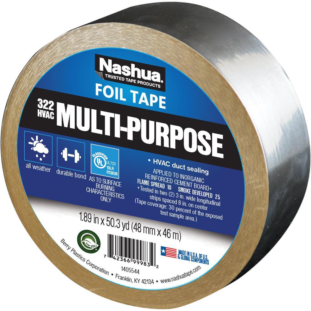 1.89 in. x 50 yd. 322 Multi-Purpose HVAC Foil Tape
