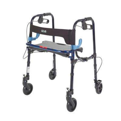 Clever Lite 4-Wheel Rollator Walker with 5 in. Wheel in Flame Blue