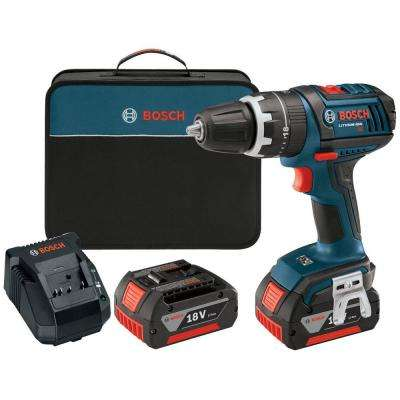 18-Volt Lithium-Ion Cordless Compact Tough 1/2 in. Hammer Drill Driver with 2 HC 3.0Ah Battery and Charger