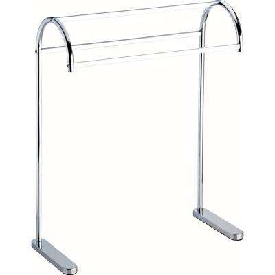 Freestanding Triple Towel Rack in Polished Chrome