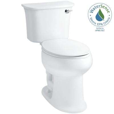 Stinson 2-piece 1.28 GPF Single Flush Elongated Toilet in White