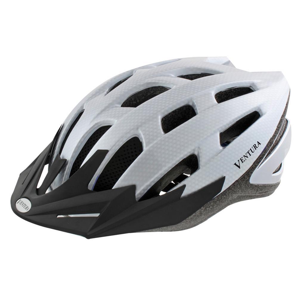 Ventura Carbon Sport Medium Bicycle Helmet in White