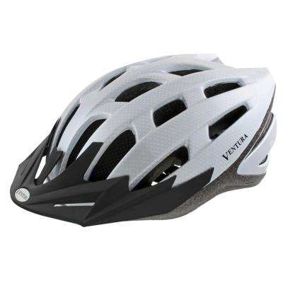 Carbon Sport Medium Bicycle Helmet in White