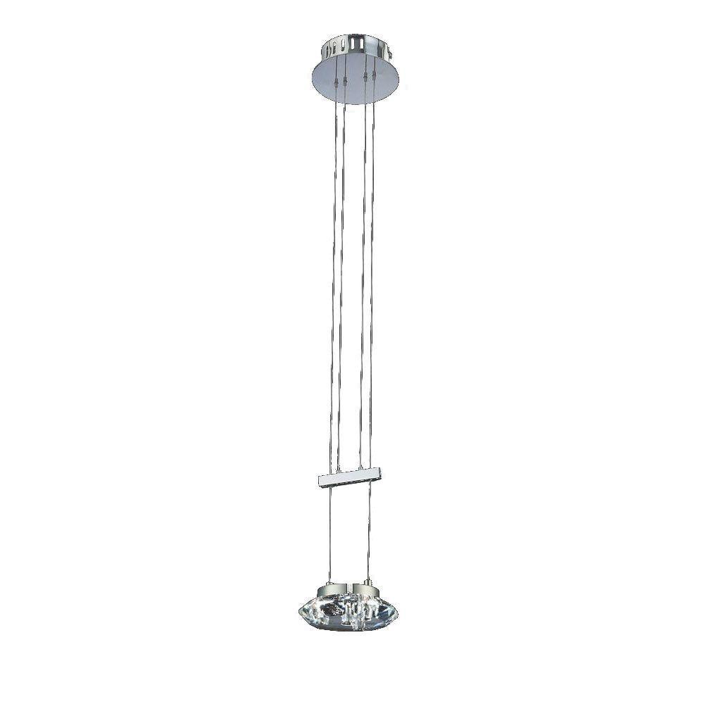 Filament Design Cassiopeia 1-Light Chrome Incandescent Ceiling Pendant