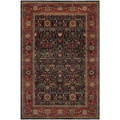 Old World Classics Joshagan Navy-Rust 6 ft. 6 in. x 9 ft. 10 in. Area Rug