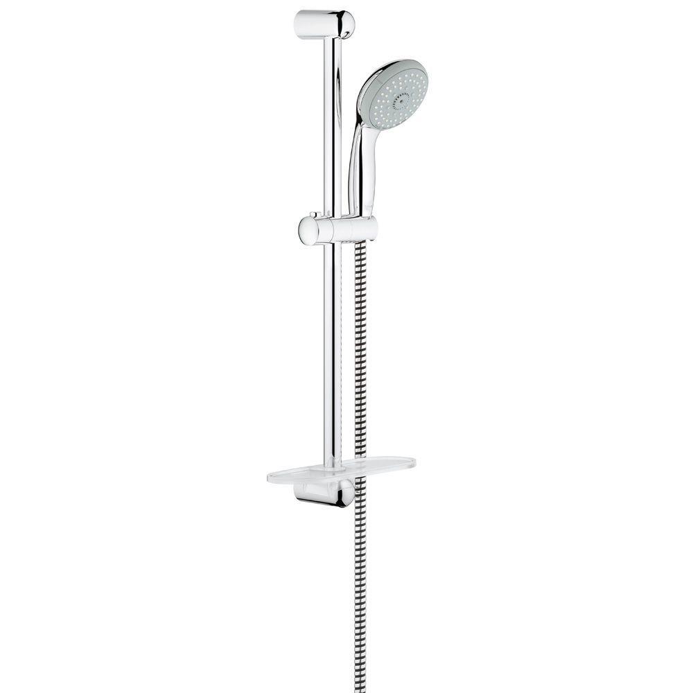 GROHE New Tempesta 100 4-Spray Wall Bar Shower Kit in StarLight ...