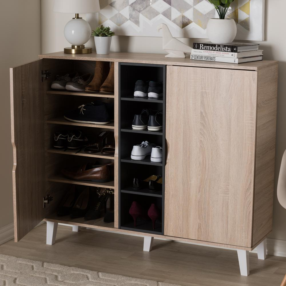 Baxton Studio Adelina Light Brown Wood Storage Cabinet