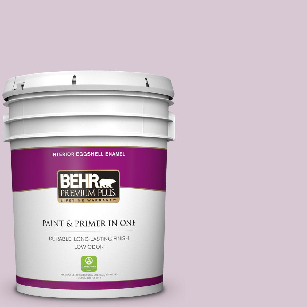 Behr Premium Plus 5 Gal S110 2 Orchid Haze Eggshell Enamel Low Odor Interior Paint And Primer In One 205005 The Home Depot