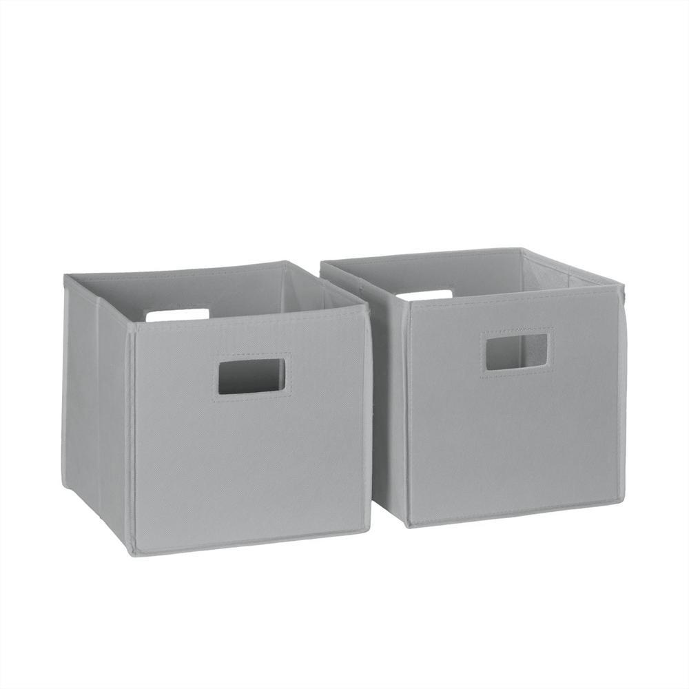 Merveilleux Folding Storage Bin Set In Gray