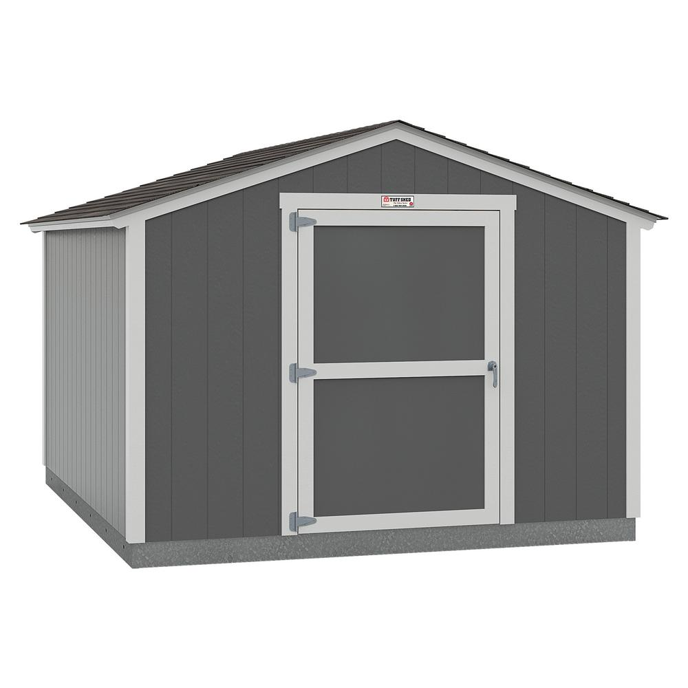 Tuff Shed Installed The Tahoe Series Standard Ranch 10 ft. x 12 ft. x 8 ft. 2 in. Painted Wood Storage Building Shed, Blues -  10x12 SR E1