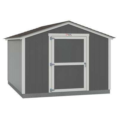 Installed Tahoe 10 ft. x 12 ft. x 8 ft. 2 in. Painted Wood Storage Building Shed with Shingles and Endwall Door