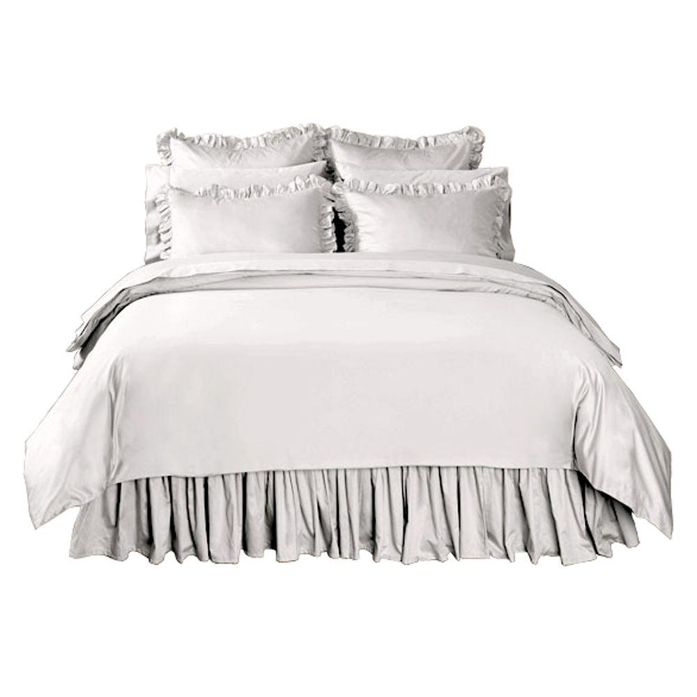 Home Decorators Collection Solid Nano White Twin Duvet