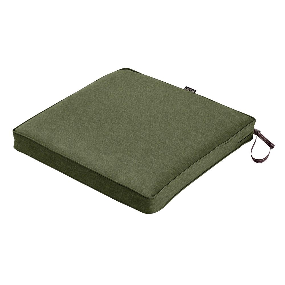 Montlake Fade Safe Heather Fern 18 in. Square Outdoor Seat Cushion