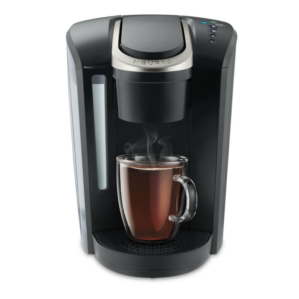 K-Select Matte Black Single Serve Coffee Maker with Automatic Shut-Off